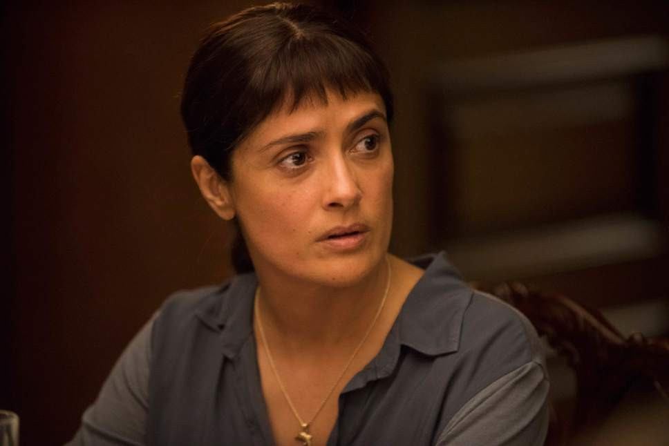 "This image released by the Sundance Institute shows Salma Hayek in a scene from ""Beatriz at Dinner,"" a film by Miguel Arteta. The film is an official selection of the Premieres program at the 2017 Sundance Film Festival. (Sundance Institute/Lacey Terrell via AP)"