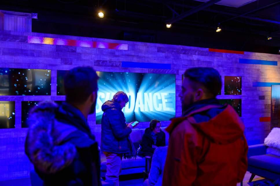 Trent Nelson  |  The Salt Lake Tribune The scene in the SundanceTV lounge on Main Street during the Sundance Film Festival in Park City on Friday, Jan. 20, 2017.