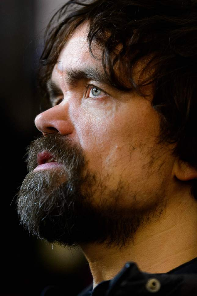 "Trent Nelson  |  The Salt Lake Tribune Peter Dinklage at the premiere of the film ""Rememory,"" at the 2017 Sundance Film Festival in Park City on Wednesday, Jan. 25."