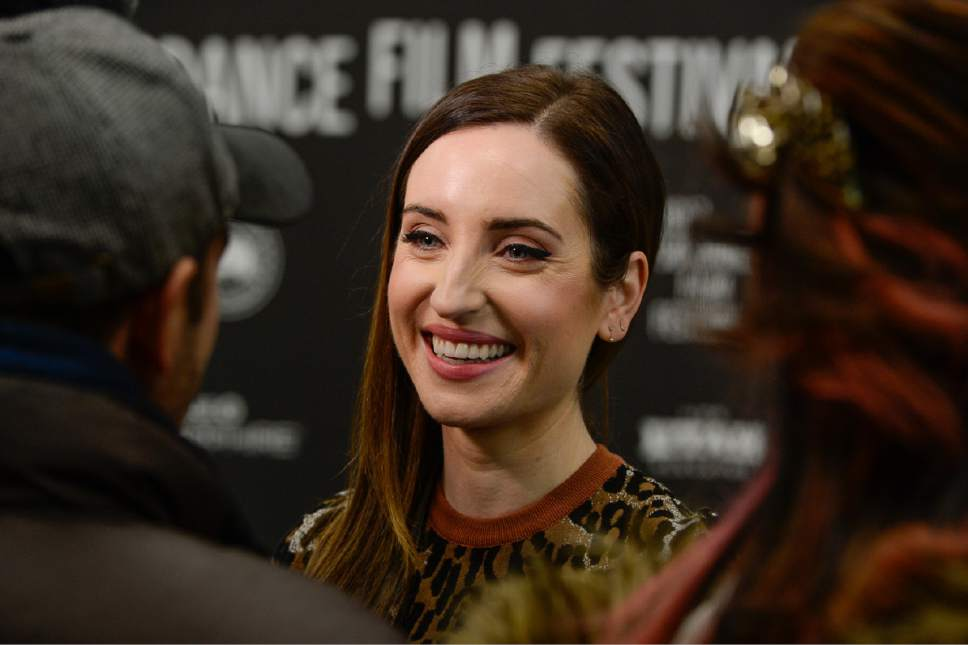 Francisco Kjolseth | The Salt Lake Tribune ìBand Aid,î with actor Zoe Lister-Jones, pictured, (star of TVís ìLife in Piecesî) makes her debut as a writer and director, premiered Tuesday, Jan. 24, at the 2017 Sundance Film Festival in Park City.
