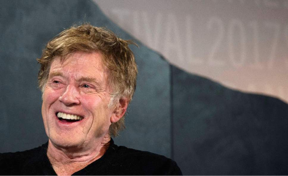 Steve Griffin | The Salt Lake Tribune  Robert Redford kicks off the 2017 Sundance Film Festival during the opening news conference at the Egyptian Theatre  in Park City on Thursday, Jan. 19, 2017.