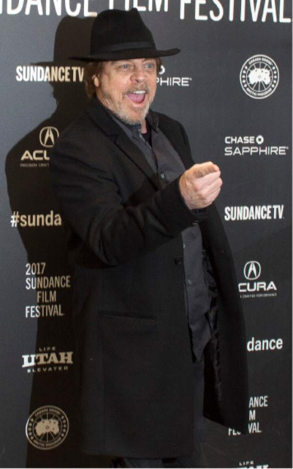 "Rick Egan  |  The Salt Lake Tribune  Mark Hamill at the Ecceles Theatre for the premiere of ""Brigsby Bear"" at the 2017 Sundance Film Festival, in Park City on Monday, Jan. 23, 2017."