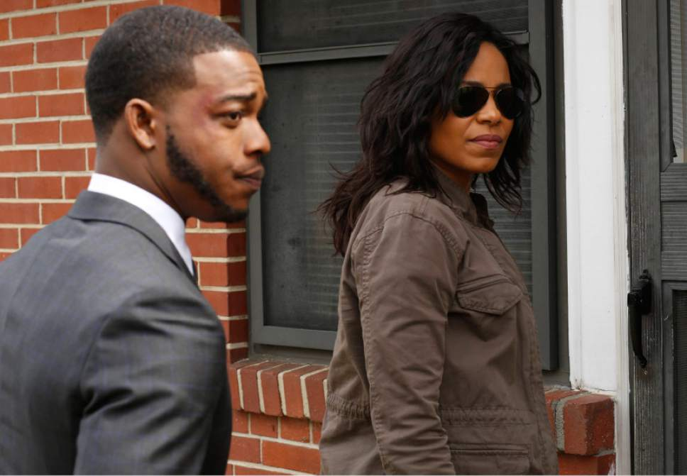 "Stephan James and Sanaa Lathan star in ""Shots Fired.""   Courtesy FOX"