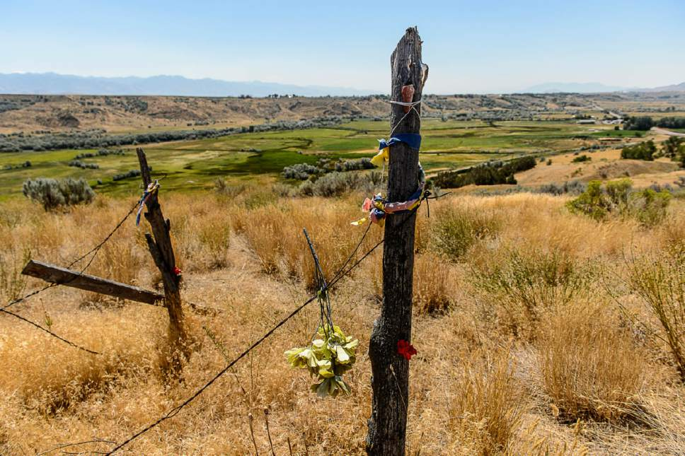 Trent Nelson  |  The Salt Lake Tribune The site of the Bear River Massacre in Franklin County, Idaho, Tuesday August 9, 2016. Research is underway to determine precise locations of the Shoshone village US soldiers wiped out in a surprise attack Jan. 29, 1863. Some 300 to 500 Indians died in the attack, making it the West's worst massacre yet the event is little known.