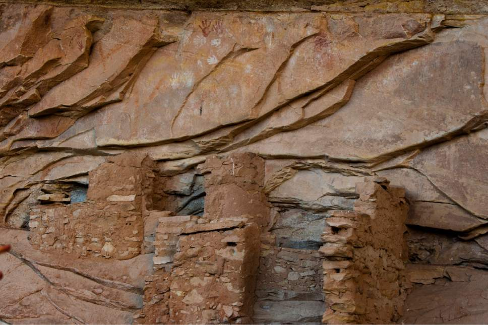 Rick Egan  |  The Salt Lake Tribune  Ancient cliff dwellings in the newly designated Bears Ears National Monument, near Bluff, Utah, Thursday, December 29, 2016.