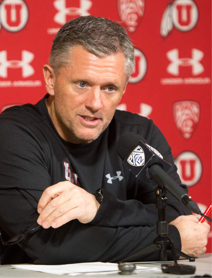 Rick Egan  |  The Salt Lake Tribune  Kyle Whittingham discusses Utah's latest Signing Day class at a news conference, Wednesday, February 1, 2017.