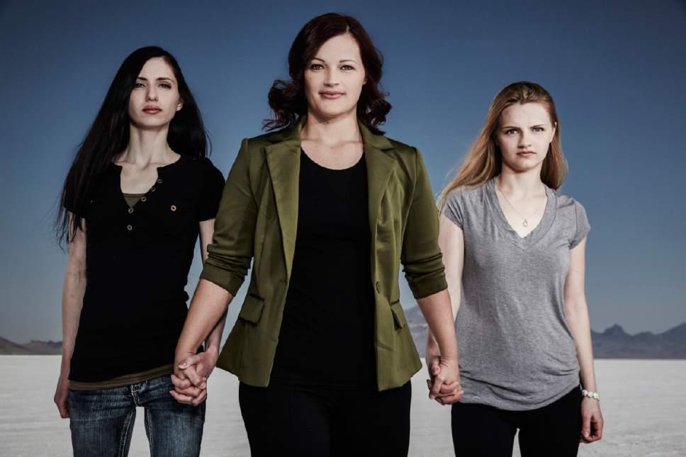 "|  Courtesy Karolina Wojtasik  Shanell, Jessica and Andrea from LMN's ""Escaping Polygamy"""