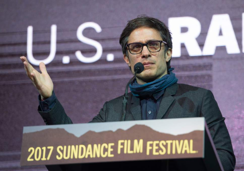 Rick Egan  |  The Salt Lake Tribune   Jury member, Gael García Bernal invites everyone to come to Mexico, before giving out an award at the 2017 Sundance Film Festival's Awards Ceremony, Saturday, January 28, 2017.