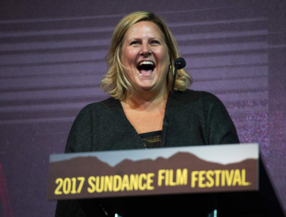 Rick Egan  |  The Salt Lake Tribune   Bridget Everett at the 2017 Sundance Film Festival's Awards Ceremony, Saturday, January 28, 2017.
