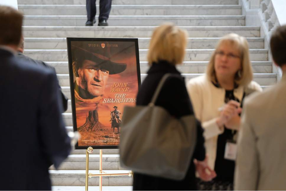 "Francisco Kjolseth | The Salt Lake Tribune ""Film Day on the Hill,"" brings in the Utah Film Commission and other film-related groups to show off to the Legislature all the cool things they do to bring film production into the state."