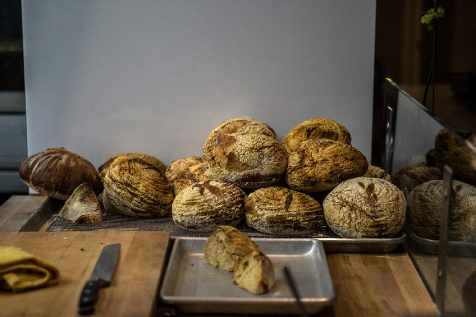 Chris Detrick  |  The Salt Lake Tribune Fresh bread made at Table X in Millcreek.