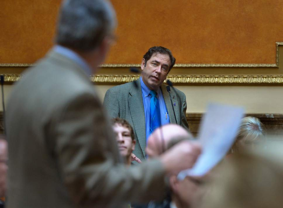 Scott Sommerdorf   |  Tribune file photo Rep. Brian King, D-Salt Lake City, asks a question of another lawmaker on the floor of the Utah House.