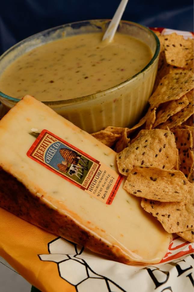 Francisco Kjolseth | The Salt Lake Tribune Beehive nacho cheese dip by Steffan Christensen, cheesemaker at Beehive Cheese Co.