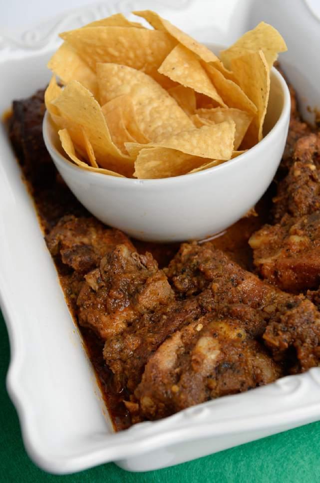 Francisco Kjolseth | The Salt Lake Tribune Salsita Mendoza pork riblets by Linnaea Mendoza, owner of Salsita Mendoza Salsa.