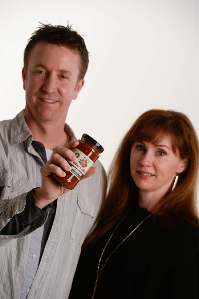 Francisco Kjolseth | The Salt Lake Tribune Jason and Brittany Moffat, owners of Rustic Tomato Chili Sauce.
