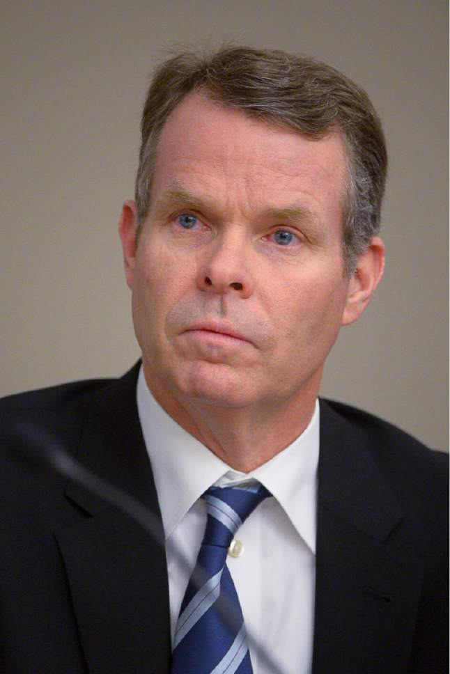 Trent Nelson  |  The Salt Lake Tribune Former Utah Attorney General John Swallow, charged with public corruption, at a pre-trial hearing in Salt Lake City, Friday January 6, 2017.