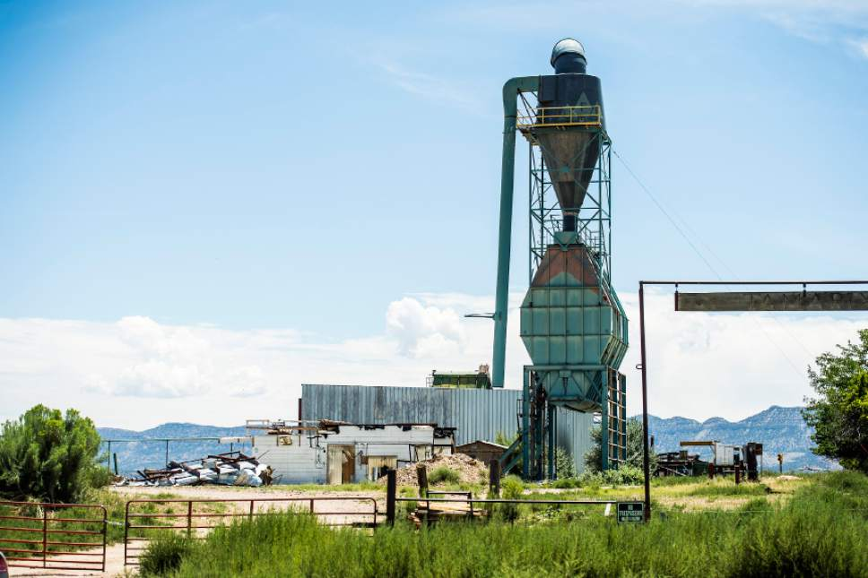 Chris Detrick  |  The Salt Lake Tribune The closed Steed sawmill in Escalante Thursday July 30, 2015.