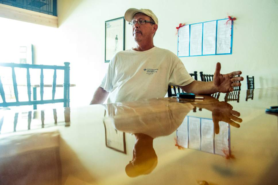 Chris Detrick  |  The Salt Lake Tribune Shannon Steed talks about restoring the Escalante Showhouse in Escalante Wednesday July 29, 2015.