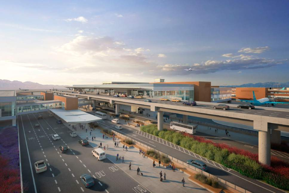 Courtesy Salt Lake International Airport A rendering shows a view of what the airport remodel may look like.