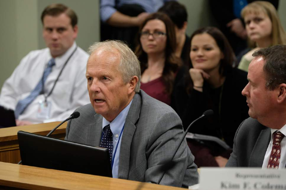 Francisco Kjolseth | The Salt Lake Tribune Rep. Mike Noel, R-Kanab, sponsor of HB99, a bill amending Utah's bigamy statute, goes before the House Judiciary Committee for another hearing on Capitol Hill in Salt Lake City on Tuesday, Feb. 7, 2017.