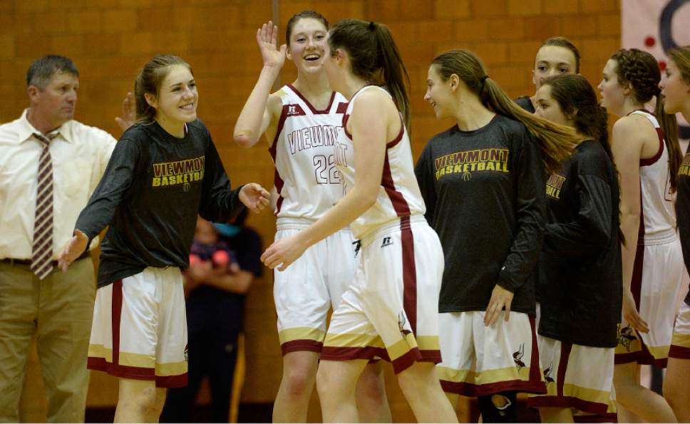 layton high school leah hogsten the salt lake tribune viewmonts mercedes staples is congratulated for her 3