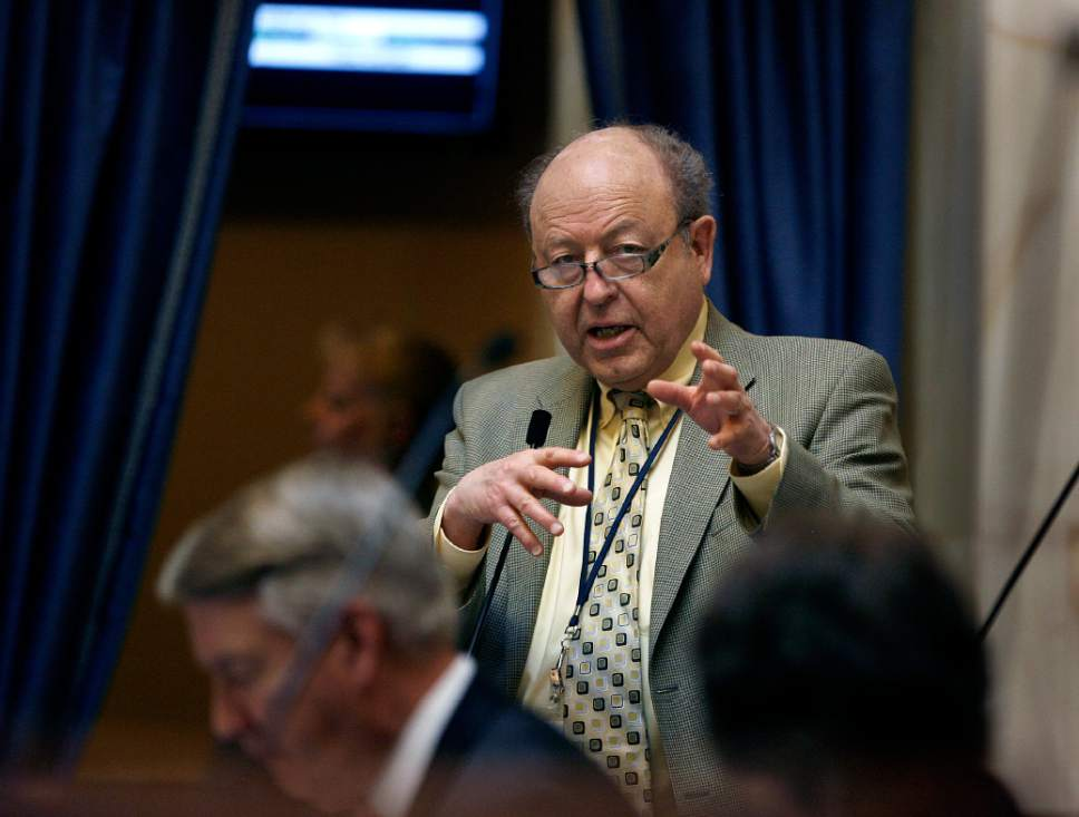 Scott Sommerdorf   |  Tribune file photo Sen. Lyle Hillyard, R-Logan, opposes a measure attempting to equalize school-district funding. He worries it could undermine the state's basic funding formula, the weighted pupil unit.