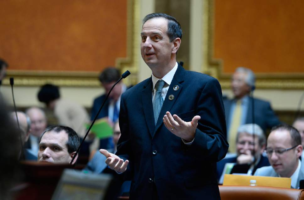 Scott Sommerdorf   |  Tribune file photo Rep. Norman Thurston, R-Provo, speaks in the Utah House of Representatives in 2015.