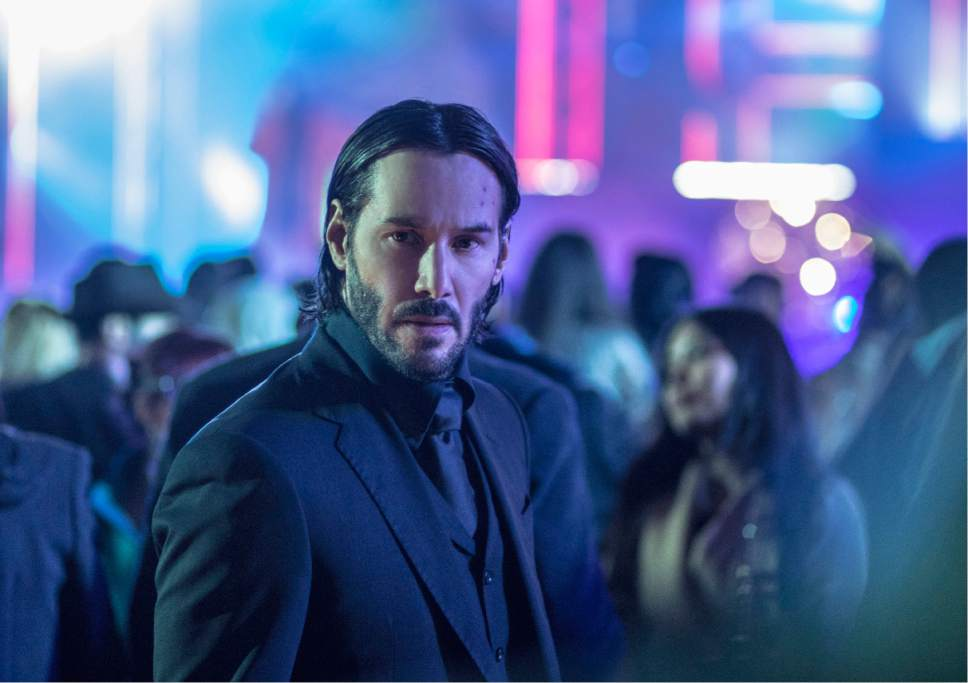 """This image released by Lionsgate shows Keanu Reeves in a scene from, """"John Wick: Chapter 2."""" (Niko Tavernise/Lionsgate via AP)"""