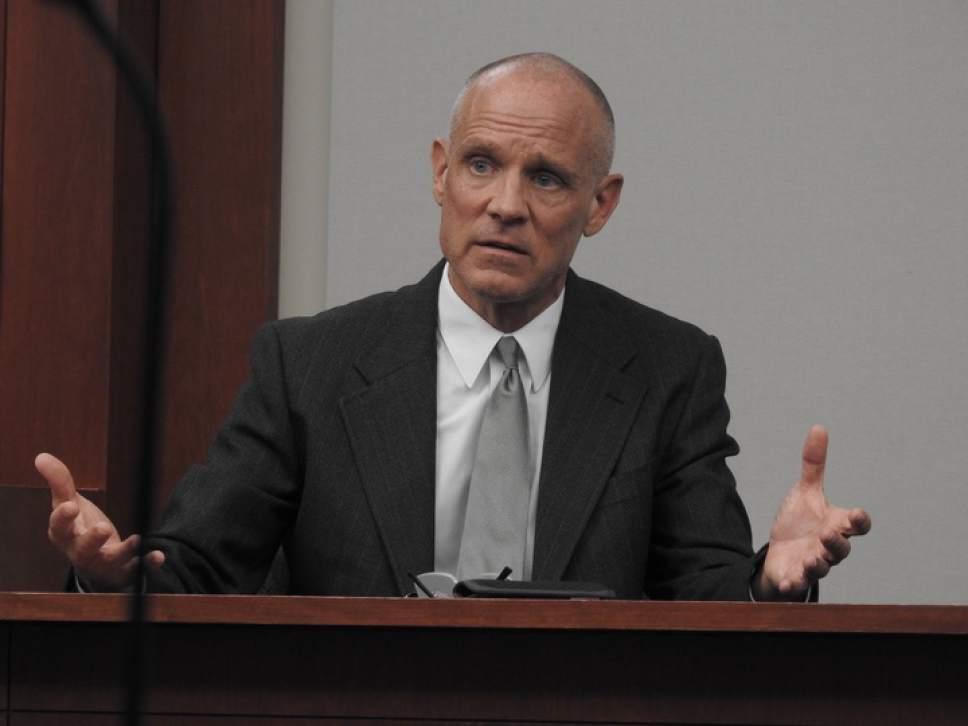 Chris Detrick  |  The Salt Lake Tribune  Marc Sessions Jenson testifies during the trial of former Utah Attorney General John Swallow on Feb. 8, 2017.
