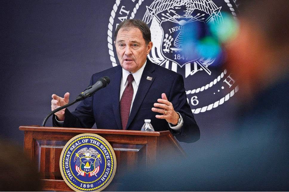 Scott Sommerdorf   |   Tribune file photo Utah Gov. Gary Herbert signed an executive order to more closely vet state rules and regulations with an eye to reducing burdens on businesses and residents.