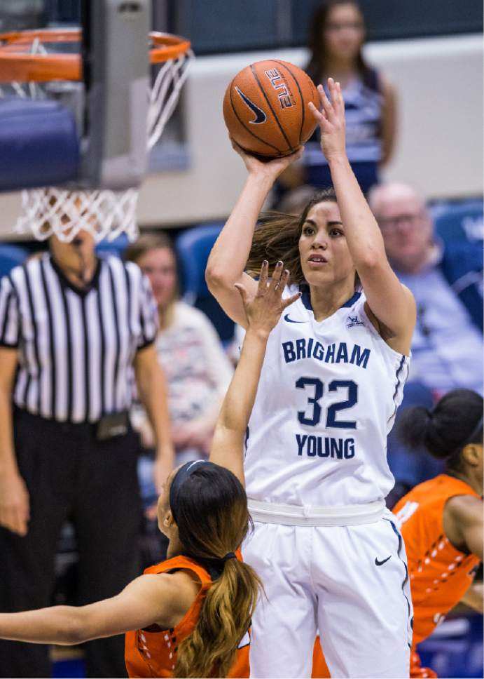 Jaren Wilkey     BYU  BYU's Kalani Purcell goes up for a jump shot against Pacific on January 2, 2016.