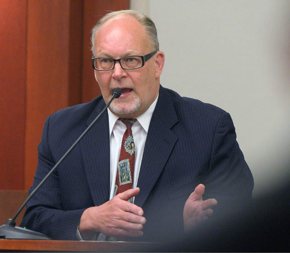 Al Hartmann  |  The Salt Lake Tribune Utah Assistant Attorney General Scott Reed testifies in John Swallow's public corruption trail in Salt Lake City Wed. Feb. 15.
