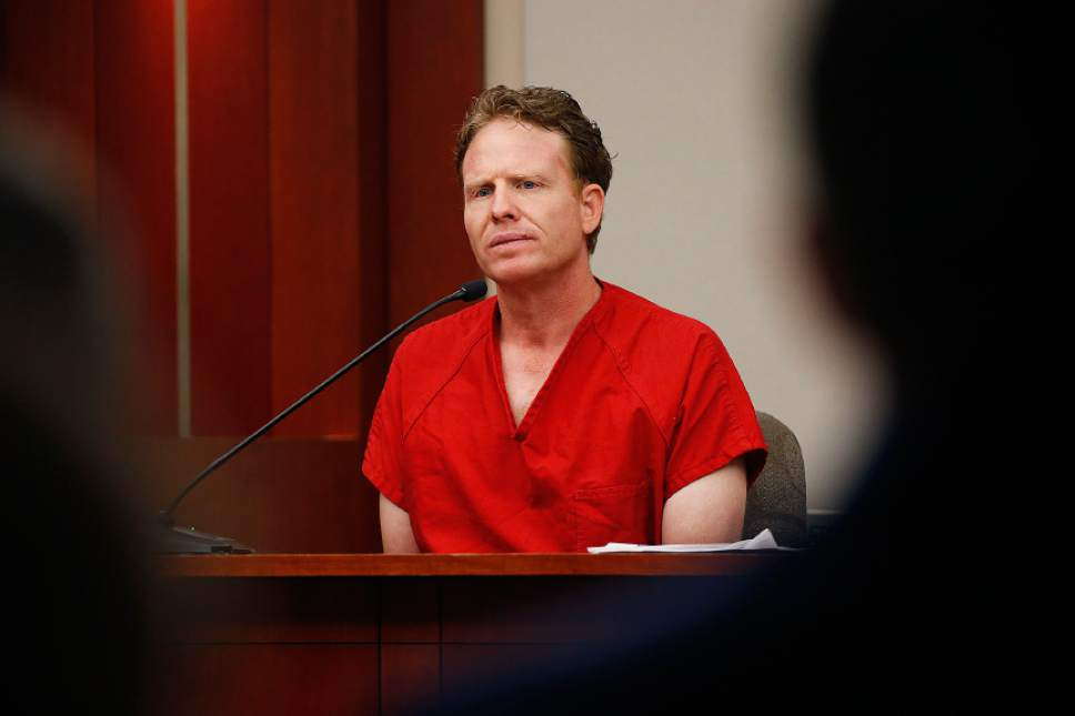 Jeremy Johnson refuses to testify during the trial of former Utah Attorney General John Swallow at the Matheson Courthouse in Salt Lake City on Thursday, Feb. 16, 2017.