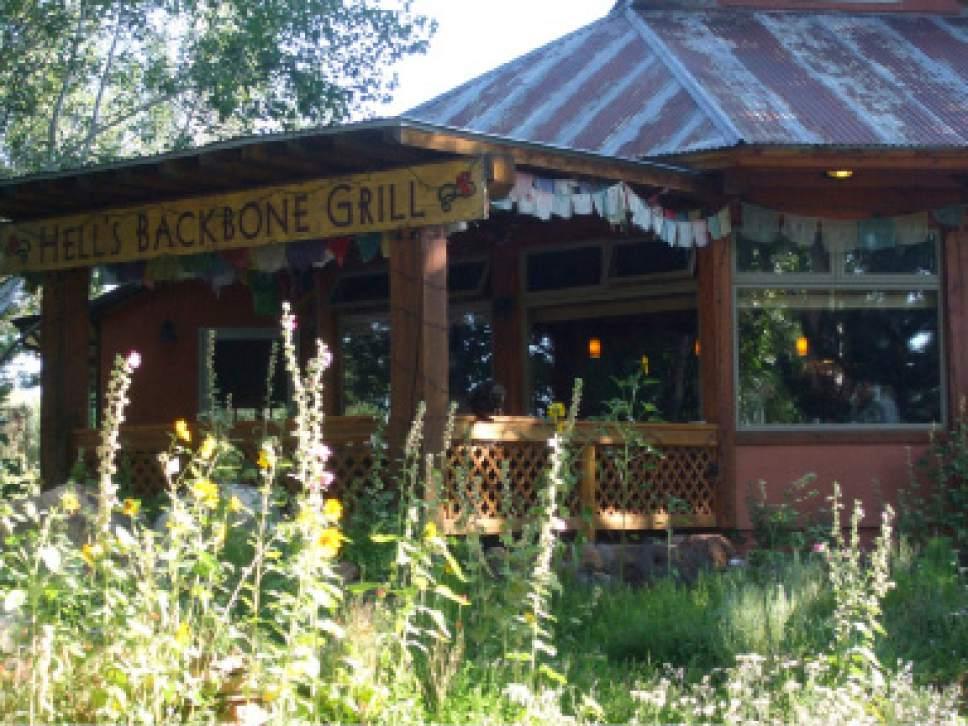 Kathy Stephenson  |  The Salt Lake Tribune   Hells Backbone Grill in Boulder, Utah.
