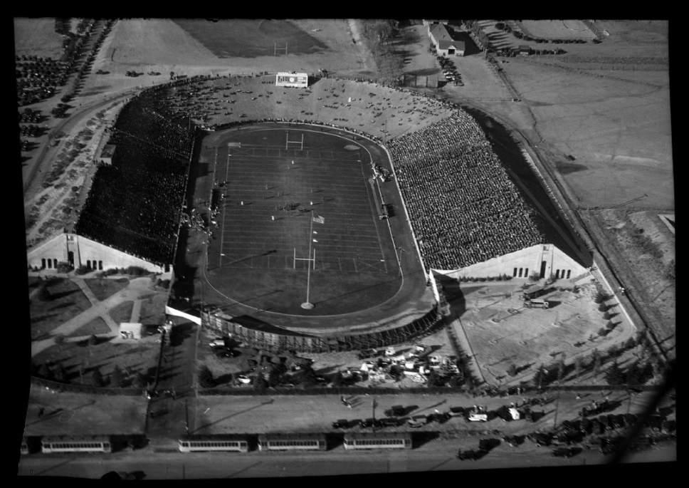 photo courtesy Utah Historical Society  Rice Stadium in November 1938.