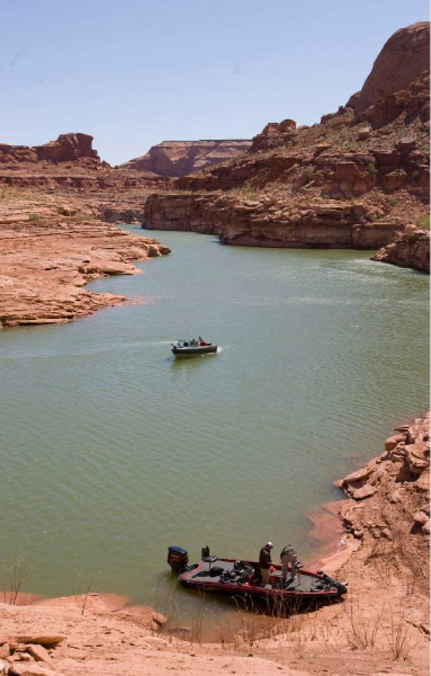 Al Hartmann  |  The Salt Lake Tribune Sevenmile Canyon, a side arm of Good Hope Bay, is popular with fishermen.