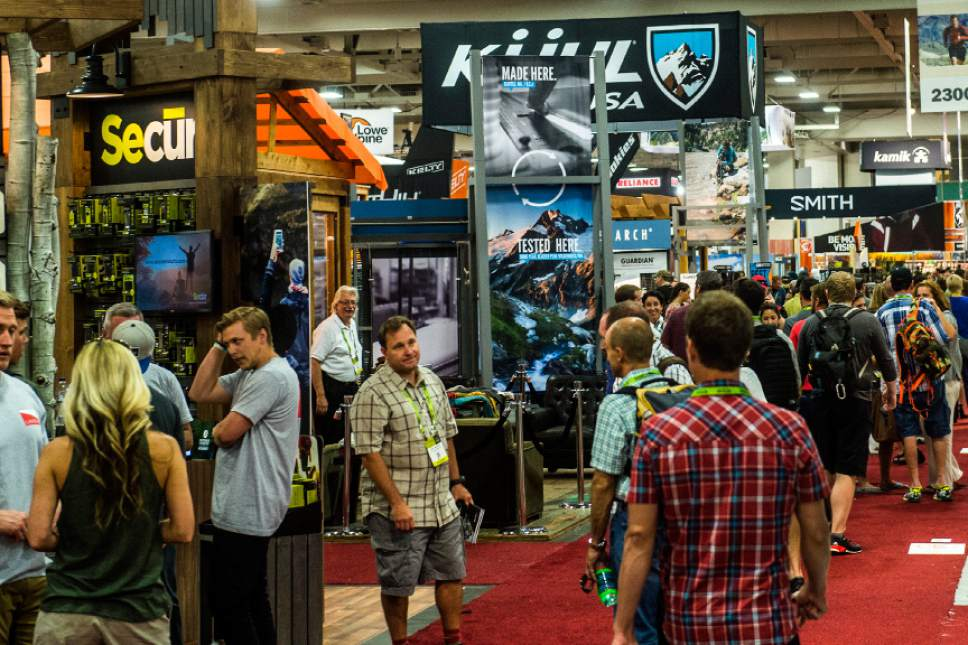 Chris Detrick  |  The Salt Lake Tribune Opening day of the 2015 Outdoor Retailer Summer Market at the Salt Palace Convention Center in Salt Lake City Wednesday August 5, 2015.