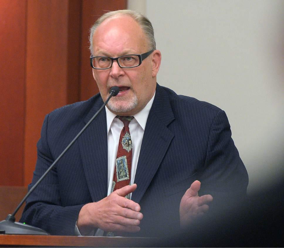 Al Hartmann     The Salt Lake Tribune Utah Assistant Attorney General Scott Reed testifies in John Swallow's public corruption trail in Salt Lake City Wed. Feb. 15.