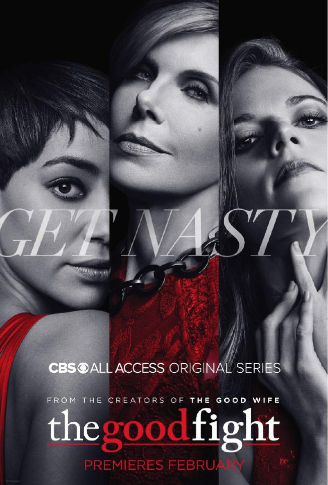 "Cush Jumbo as Lucca Quinn, Christine Baranski as Diane Lockhart and Rose Leslie as Maia Rindell in ""The Good Fight."" Courtesy  