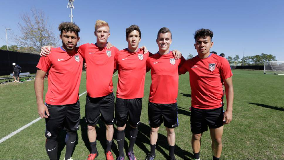 Courtesy  |  U.S. Soccer  From left to right: RSL academy products Danilo Acosta, Justen Glad, Aaron Herrera, Brooks Lennon and Sebastian Saucedo with the U.S. U-20s at 2017 CONCACAF Championship in Costa Rica.