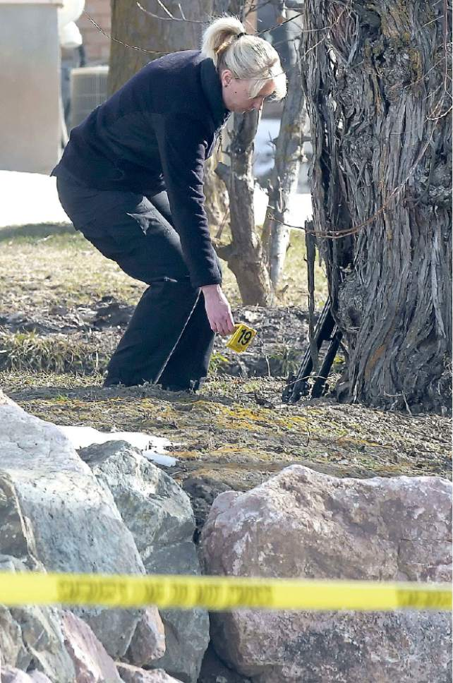 Eli Lucero  |  Herald Journal An investigator searchs for evidence where a missing girl was found in an irrigation ditch in Smithfield on Friday.
