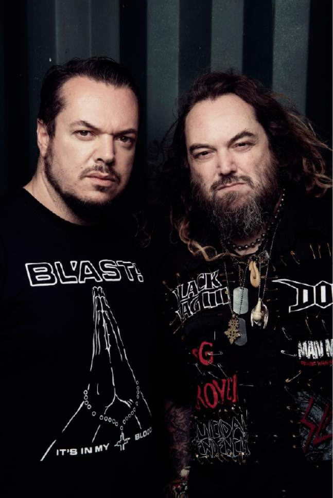 "Courtesy photo  From left, brothers Iggor and Max Cavalera, best known from their time with the Brazilian heavy metal band Sepultura, will be playing that group's classic 1996 album ""Roots"" in its entirety in a show this Sunday at Salt Lake City's Metro Music Hall."