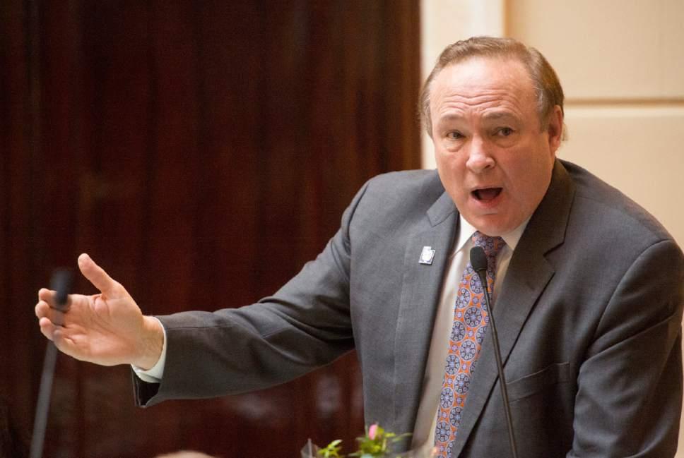 Rick Egan  |   Tribune file photo  Sen. Jim Dabakis, D-Salt Lake City, saw his bill to raise taxes on high-income Utahns shot down Wednesday.