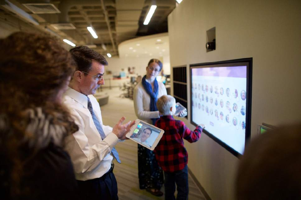 | courtesy LDS Church  Thereís a new place on historic Temple Square where guests can explore their family history. The Family History Library opens its doors to the interactive discovery experiences Wednesday, February 8, 2017.