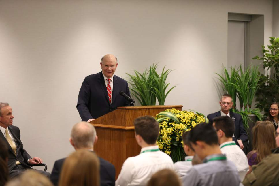 | courtesy LDS Church  Elder Dale G. Renlund of the Quorum of the Twelve Apostles formally opened the new 10,139 square foot interactive discovery experiences in the Church's Family History Library Wednesday, February 8, 2017.