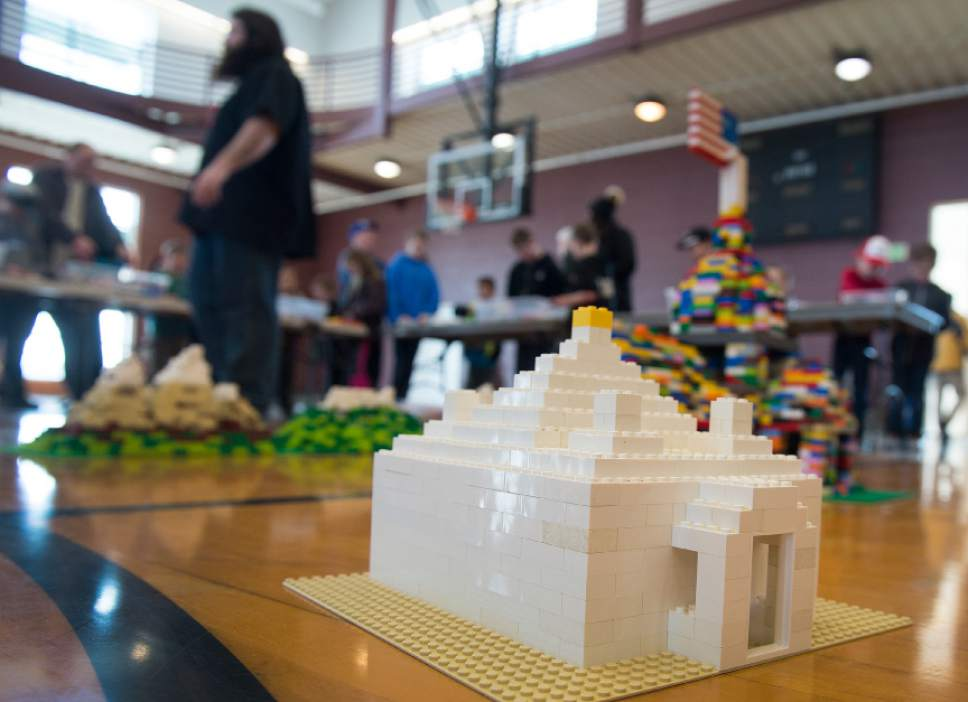 Leah Hogsten  |  The Salt Lake Tribune One family constructed an LDS Temple to all to the cityscape. Over 800 kids sorted through 50,000 pieces of LEGOs to make additions to the Salt Lake Valley out of LEGO in the hopes of getting kids interested in engineering and other STEM and STEAM-related fields at the Gene Fullmer Recreation Center, February 25, 2017.