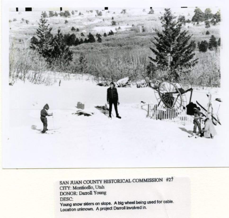    Courtesy  An undated photo taken at Blue Mountain ski area and later donated to the former San Juan County Historical Commission.