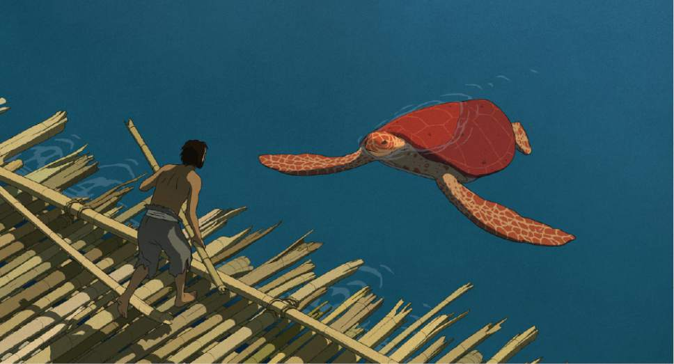 "|  courtesy Sony Pictures Classics  A castaway encounters a sea creature in the animated fable ""The Red Turtle."""