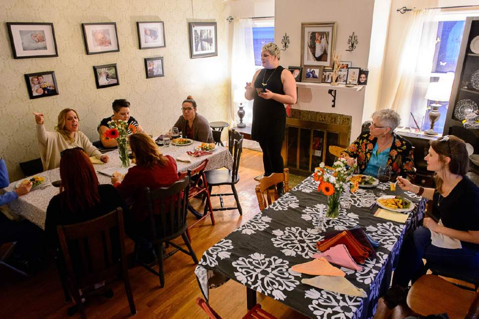 Trent Nelson  |  The Salt Lake Tribune A meeting of Utah Women Unite in Salt Lake City, Thursday February 16, 2017.