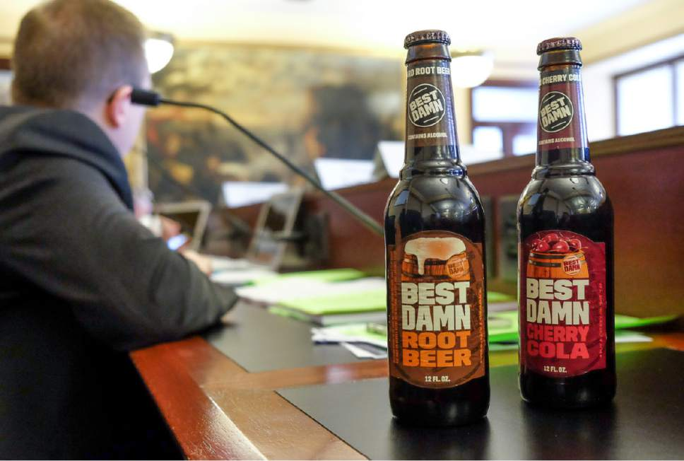 Francisco Kjolseth | The Salt Lake Tribune Flavored beers and ciders that often have labels similar to soda were discussed during the House Business and Labor Standing Committee at the State Capitol in Salt Lake City Wednesday, March 1, 2017.
